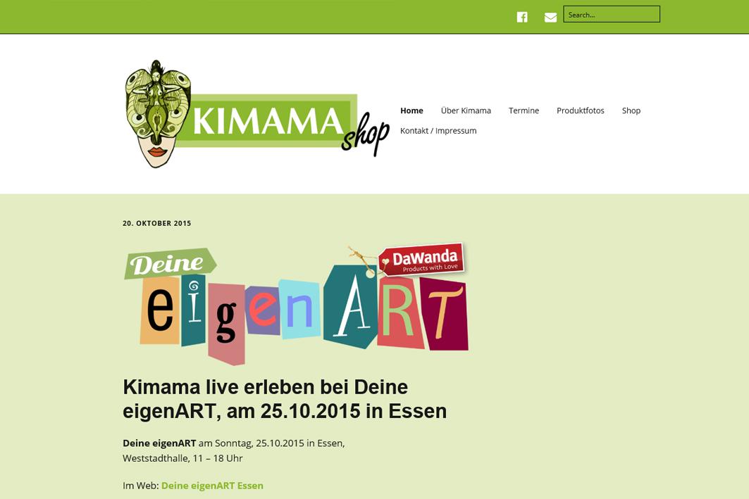 "Website ""kimamashop.com"""